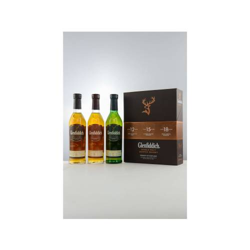Glenfiddich Collection Whisky Probierset 3 x 200ml