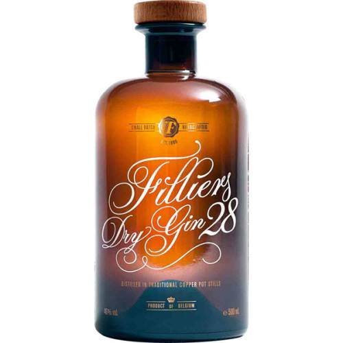 Filliers Dry Gin 28 Small Batch 46% (1 X 0,50L)