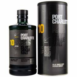 Port Charlotte Whisky 10 Jahre Heavily Peated 50% (1 X...