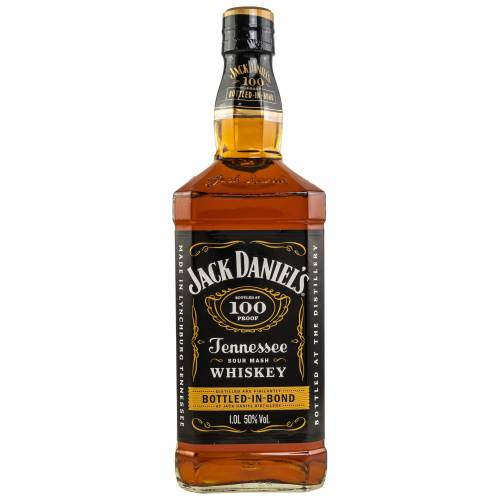 Jack Daniels 100 Proof Bottled in Bond Tennessee Whiskey 50% 1,0l
