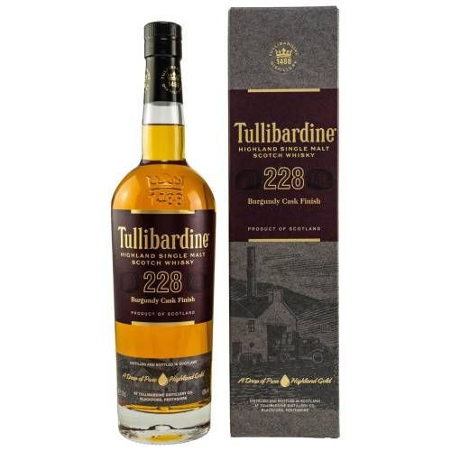 Tullibardine 228 Highland Single Malt Whisky Burgundy Finish 43% 0.70l