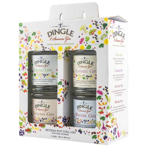 Dingle Four Seasons Gin Collection Set 2019 (4 x 200ml)