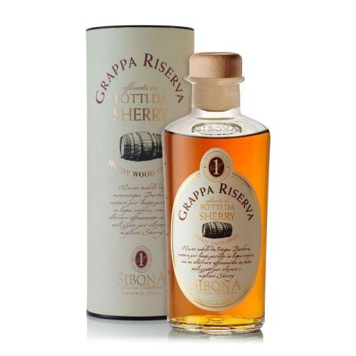 Sibona Grappa Sherry Wood Finish 44% 0.50l
