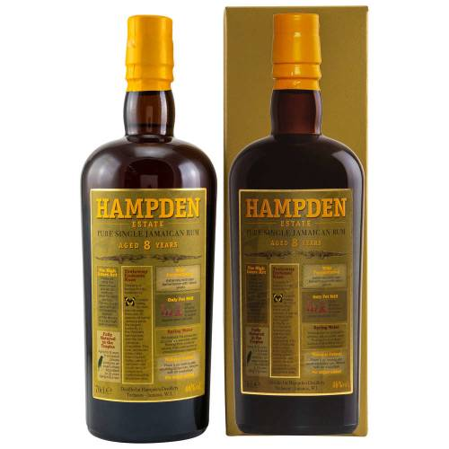 Hampden 8 Jahre Pure Single Jamaican Rum 46% vol. 700ml