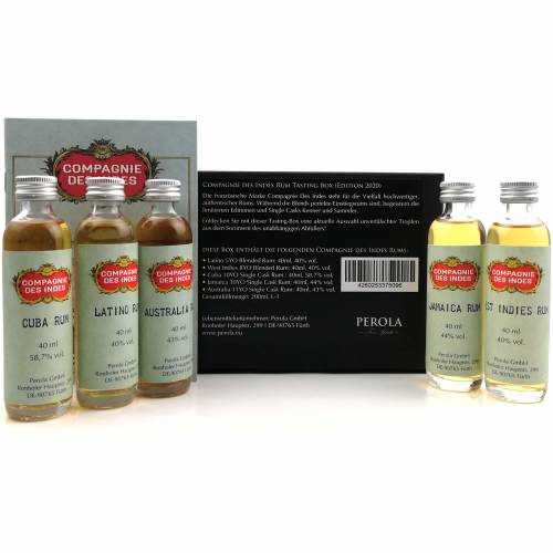 Compagnie des Indes Tasting Box Rum 5 x 40ml