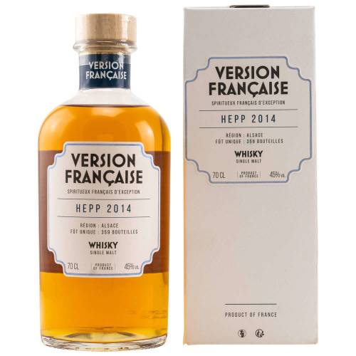 Hepp 2014/2019 Version Francaise Single Malt Whisky Alsace