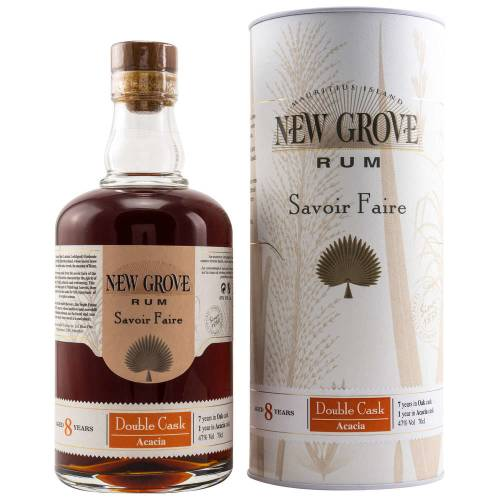 New Grove Rum 8 Jahre Double Cask Acacia 47% Vol. 0.70l
