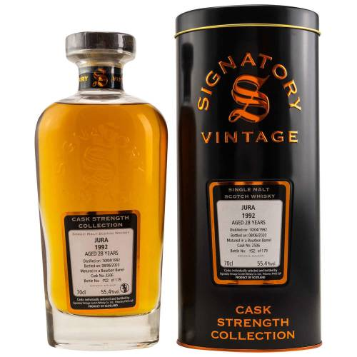 Jura 1992 - 28 YO Cask 2506 Signatory Whisky 55,4% Vol. 0.70l