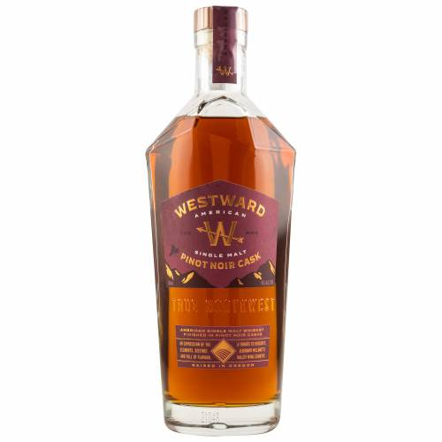Westward Pinot Noir Finish American Single Malt Whiskey 45% 0,70l